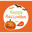 cute happy halloween design template vector image vector image