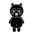 cute panda bear animal standing cartoon wildlife vector image vector image