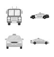 design of engine and truck symbol vector image