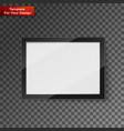 digital frame on transparent background vector image