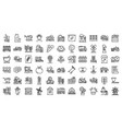 farmer icons set outline style vector image vector image