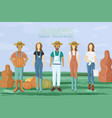 farmers set flat style autumn fall season vector image vector image