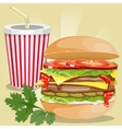 fast food picture vector image vector image