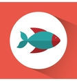 Fish cartoon over circle icon graphic vector image vector image