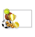 flat cartoon sport equipment banner vector image vector image