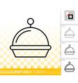 food tray simple black line restaurant icon vector image