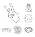 happy and attribute outline icons in set vector image