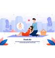 happy relationships during pregnancy banner vector image