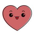 heart love kawaii character vector image vector image