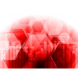 Hi-tech background with hexagon texture vector image vector image