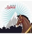 Horse cartoon of Japan design vector image vector image