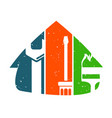 house repair and service vector image vector image