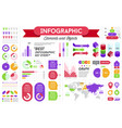 infographics presentation with elements and vector image vector image