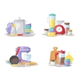 Kitchen cook tools set flat vector image vector image