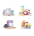 Kitchen cook tools set flat vector image