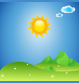 landscape sunny background vector image vector image