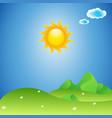 landscape sunny background vector image