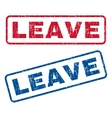 Leave Rubber Stamps vector image vector image
