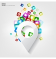 Location icon Application buttonSocial media vector image vector image
