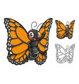 monarch butterfly cartoon character design vector image vector image