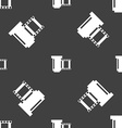 negative films icon symbol Seamless pattern on a vector image vector image