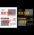 new york t-shirt graphic vector image vector image