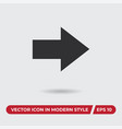 next icon in modern style for web site and mobile vector image