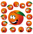 peach cartoon vector image vector image