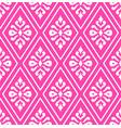 pink damask pattern vector image vector image
