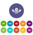 quality shop icons set color vector image