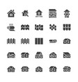 roofing flat glyph icons house construction roof vector image vector image