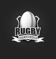 rugby logo template design vector image vector image