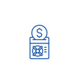 save your money line icon concept save your money vector image vector image