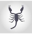 Scorpion Silhouette Icon vector image vector image