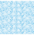 seamless blue sea wave pattern vector image vector image