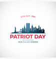 september 11 patriot day vector image vector image