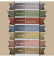 set banner or ribbons vector image vector image