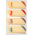 Set of retro cardboard paper banners with color vector | Price: 1 Credit (USD $1)