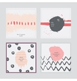 Set of square cards handdrawn decorated with vector image vector image