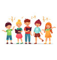singing kids music school kid vocal group and vector image vector image