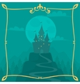 square cartoon background with castle vector image vector image