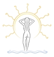tanning symbol vector image vector image