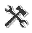tool repair hammer design isolated vector image
