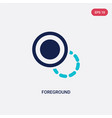 two color foreground icon from geometric figure vector image vector image
