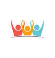 unity three logo people vector image vector image
