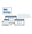 web design website template for monitor laptop vector image