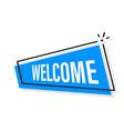welcome blue modern business banner