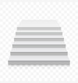 white stairs 3d realistic staircase vector image