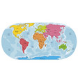 world map hand drawn colorful style vector image vector image