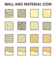 Wall and material icon vector image